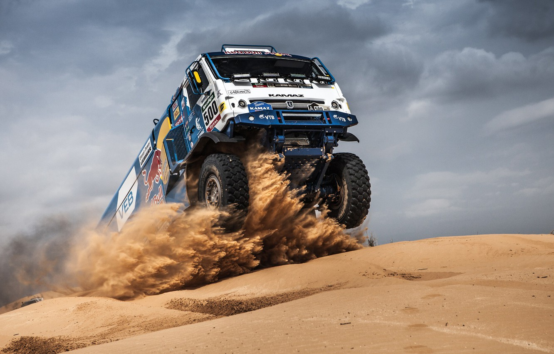 Photo wallpaper Sand, Sport, Race, Master, Kamaz, Dakar, Dakar, KAMAZ, Master
