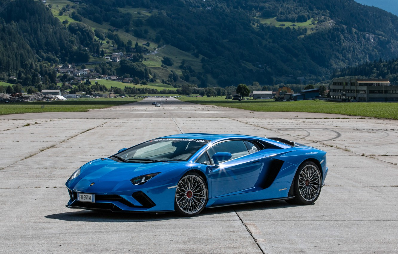 Photo wallpaper Lamborghini, Blue, Aventador, P740-4