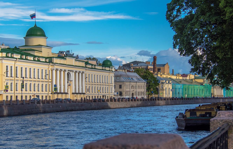 Photo wallpaper view, building, channel, river, St. Petersburg, St. Petersburg