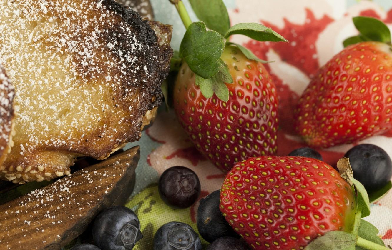Photo wallpaper berries, Strawberry, Strawberry, blueberries, Pie