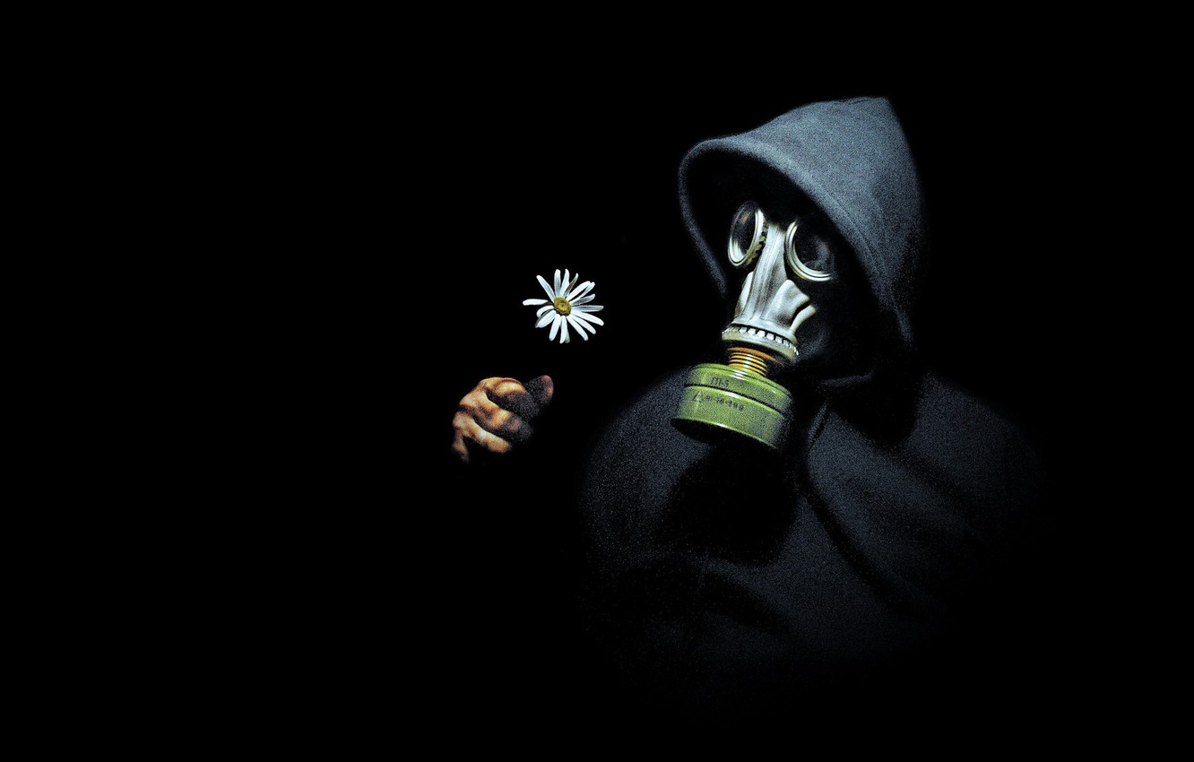 Wallpaper People Daisy Gas Mask Images For Desktop