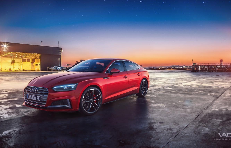 Photo wallpaper sunset, the evening, 2018, Sportback, Audi S5, Vedat Afuzi Design