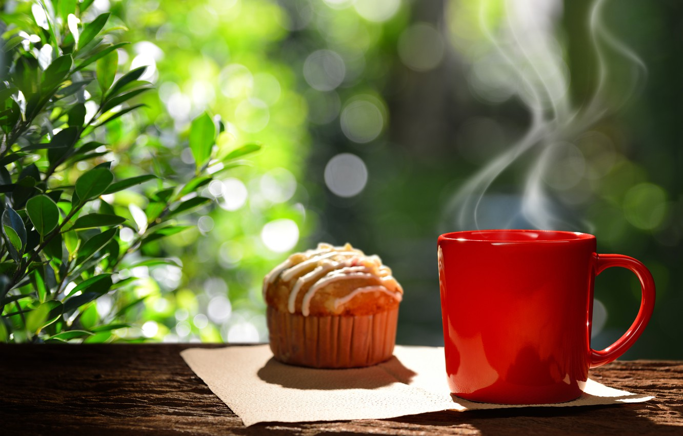 Wallpaper Coffee Breakfast Cup Hot Coffee Cup Cupcake Cupcake Good Morning Breakfast Images For Desktop Section Eda Download