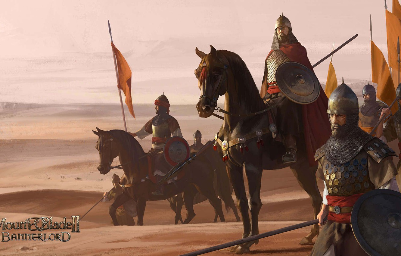 Wallpaper The Game Desert Horse Warrior Soldiers Art