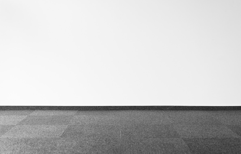 Photo wallpaper wall, minimalism, floor, black and white