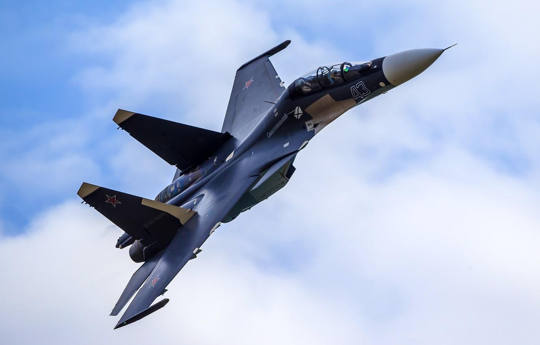 Photo wallpaper fighter, flight, Russia, multipurpose, Su-30CM