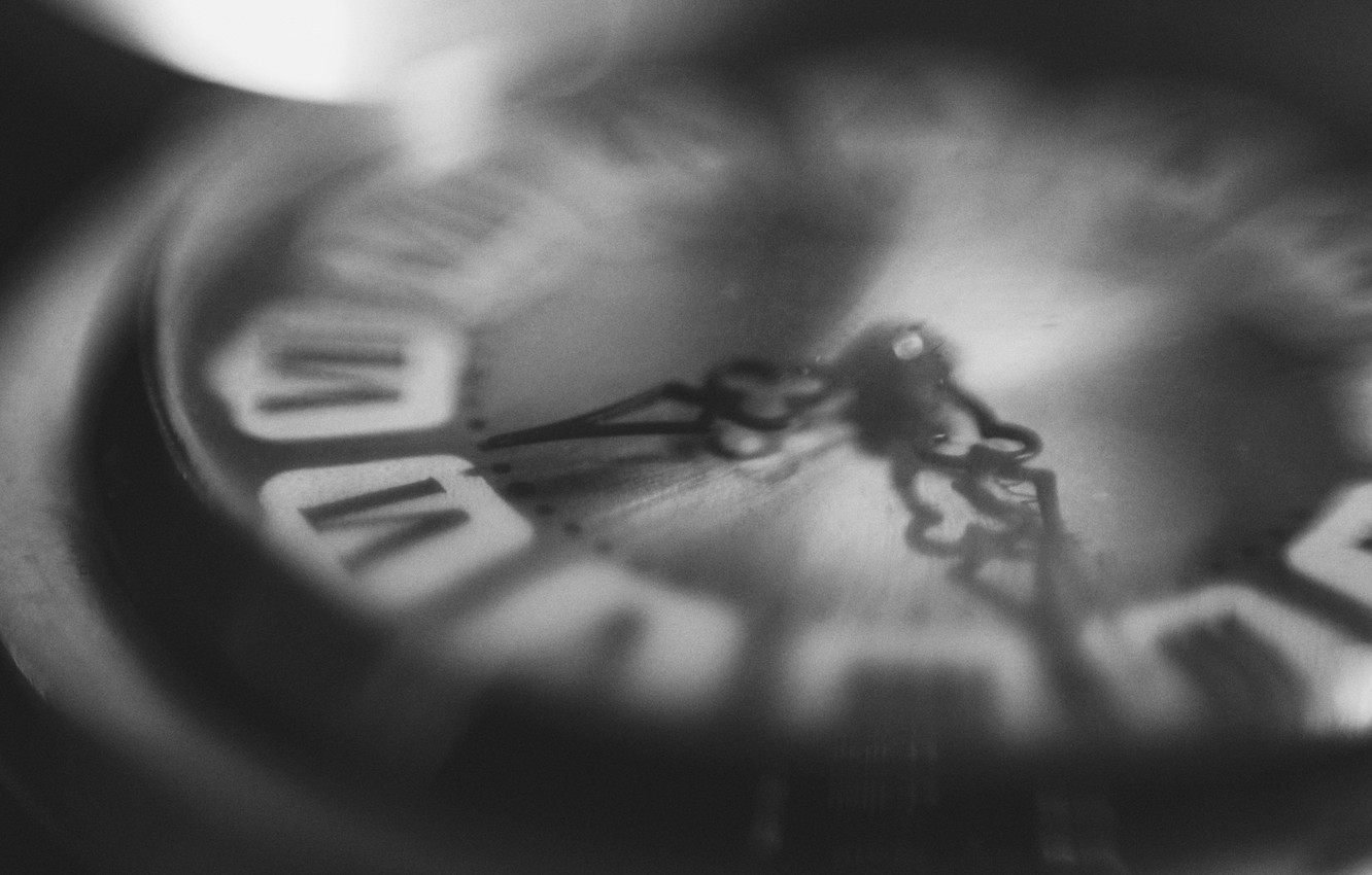 Photo wallpaper macro, time, grey, mood, arrows, watch, the atmosphere, macro, black and white, canon600d
