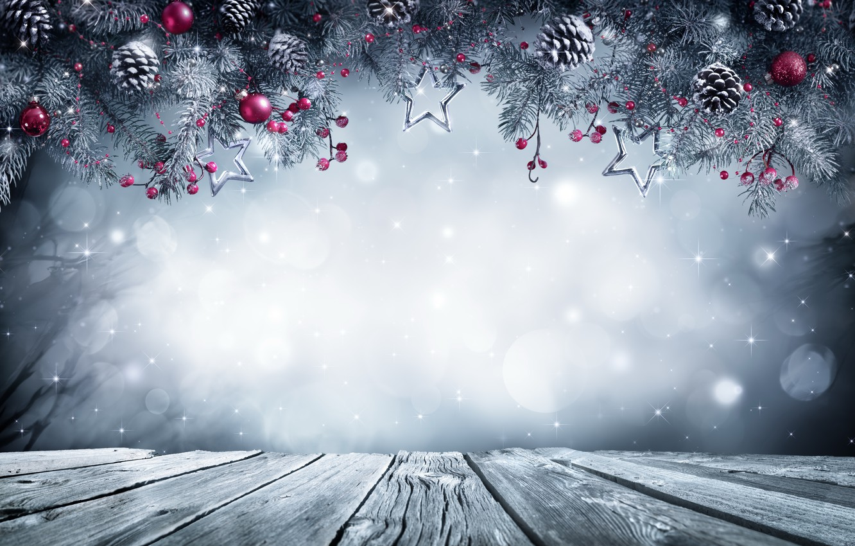 Wallpaper New Year, Christmas, christmas, balls, winter, snow