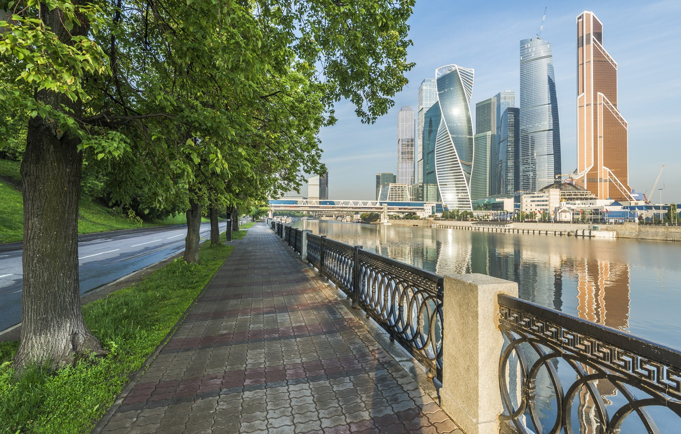 Photo wallpaper Moscow, Building, Russia, Russia, Moscow, Moscow-City, Buildings, Moscow City