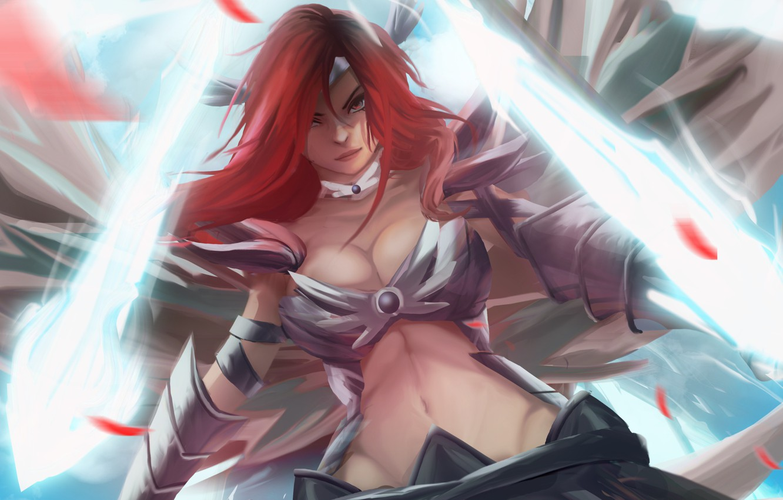 Photo wallpaper Sexy, Warrior, Magic, Knight, Redhead, Fairy Tail, Ezra Scarlet, Babe, Goddess, Hiro, Mashima, Elza, Eruza …