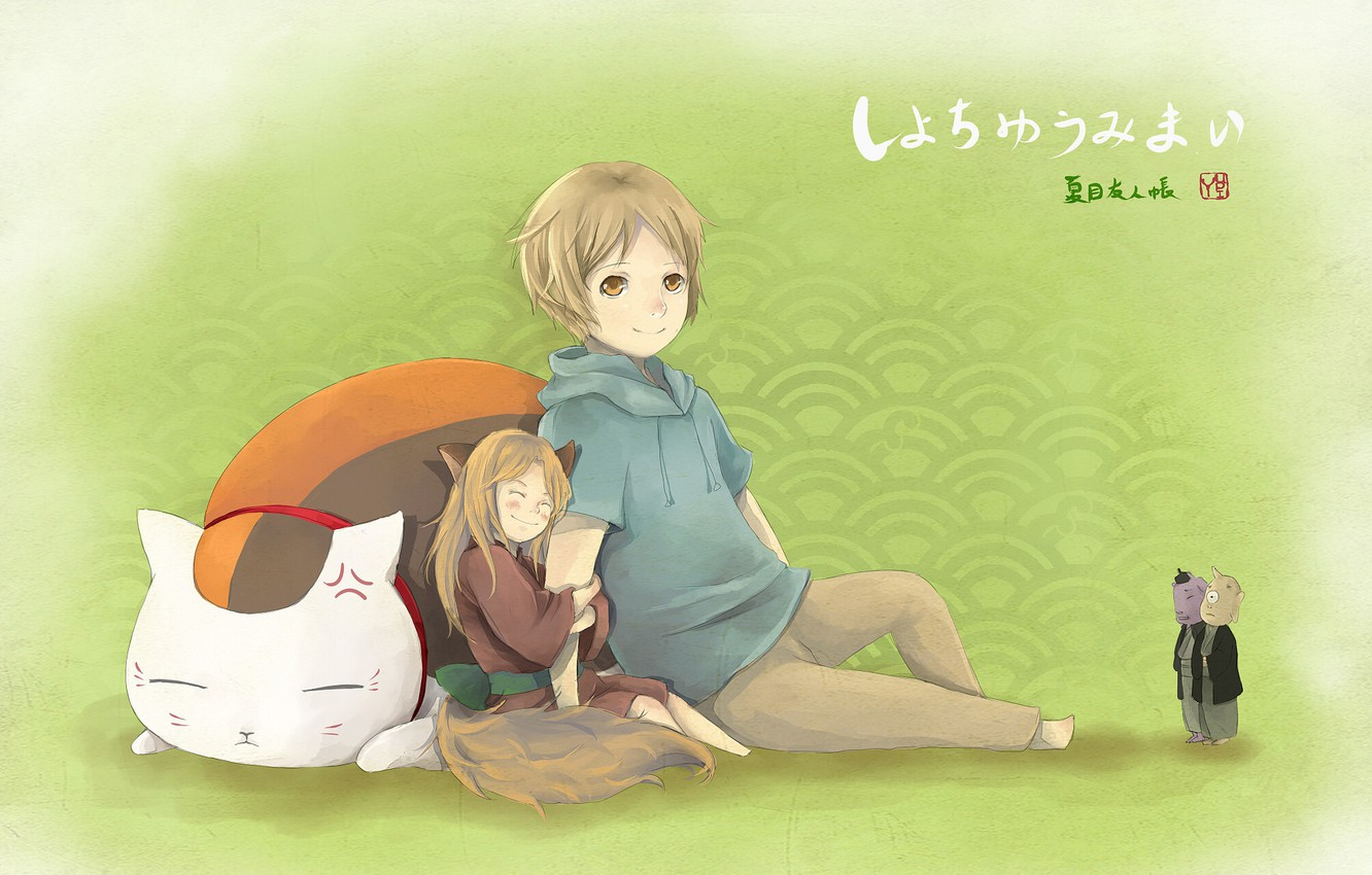 Wallpaper Anime Art Two Friends Characters Natsume Yuujinchou Book Of Friendship Natsume Images For Desktop Section Syonen Download
