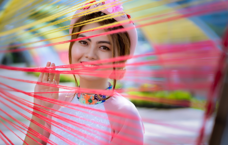 Photo wallpaper look, girl, Asian