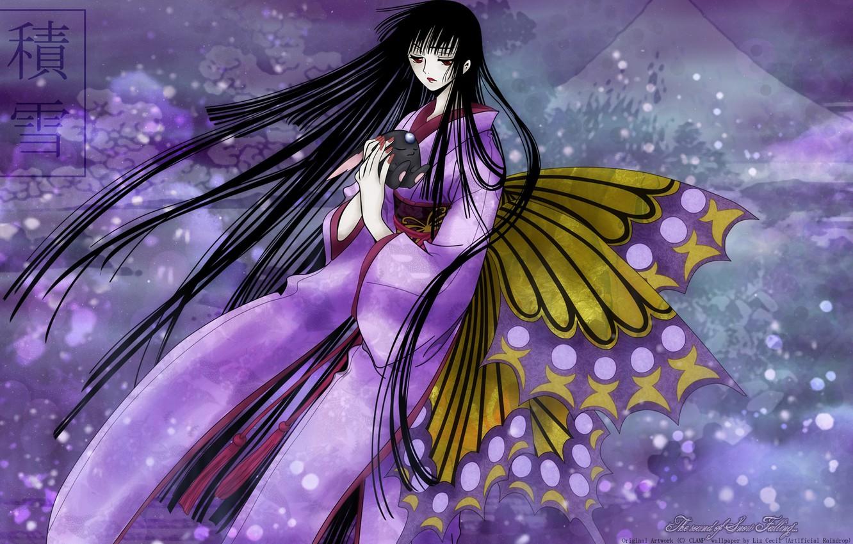 Photo wallpaper butterfly, Girl, anime, art, xxxHolic