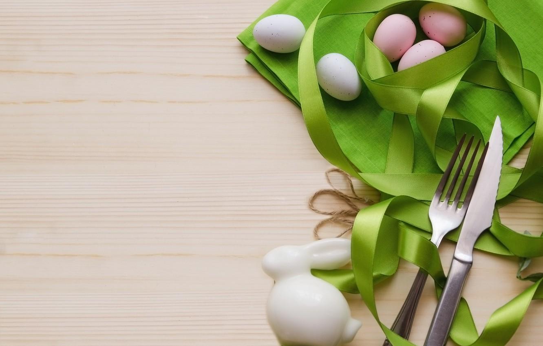 Photo wallpaper eggs, rabbit, Easter, tape, decor
