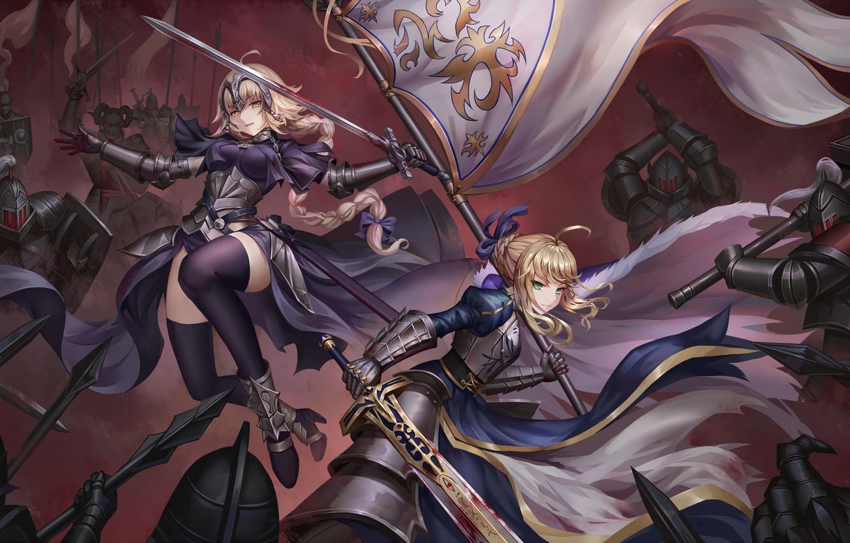 Photo wallpaper girls, anime, art, saber, Fate, Destiny, joan of arc, grand order