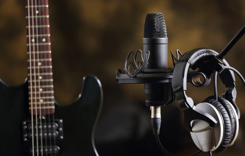 wallpaper music guitar headphones sound electro microphone creativity studio images for. Black Bedroom Furniture Sets. Home Design Ideas
