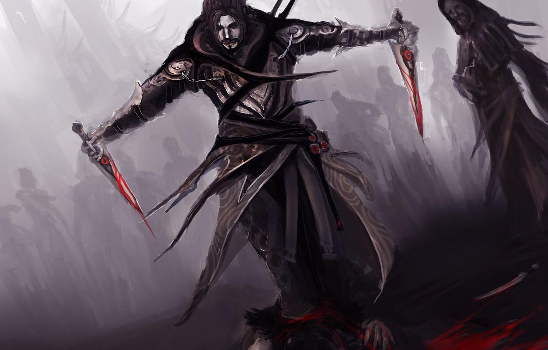 Photo wallpaper blood, daggers, theDURRRRIAN, assassin commander