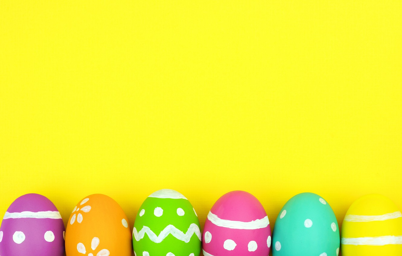 Photo wallpaper colorful, Easter, background, spring, eggs, Happy Easter, Easter eggs