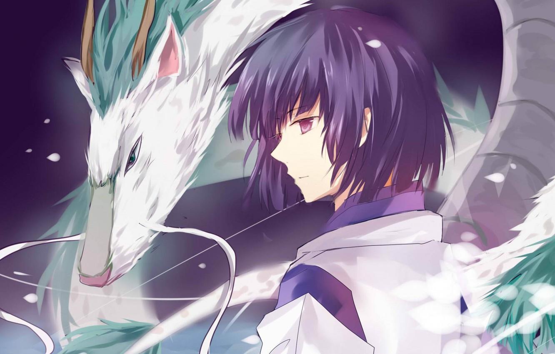 Wallpaper Mustache Boy Profile Spirited Away Spirited Away Haku White Dragon Magic Water Images For Desktop Section Syonen Download