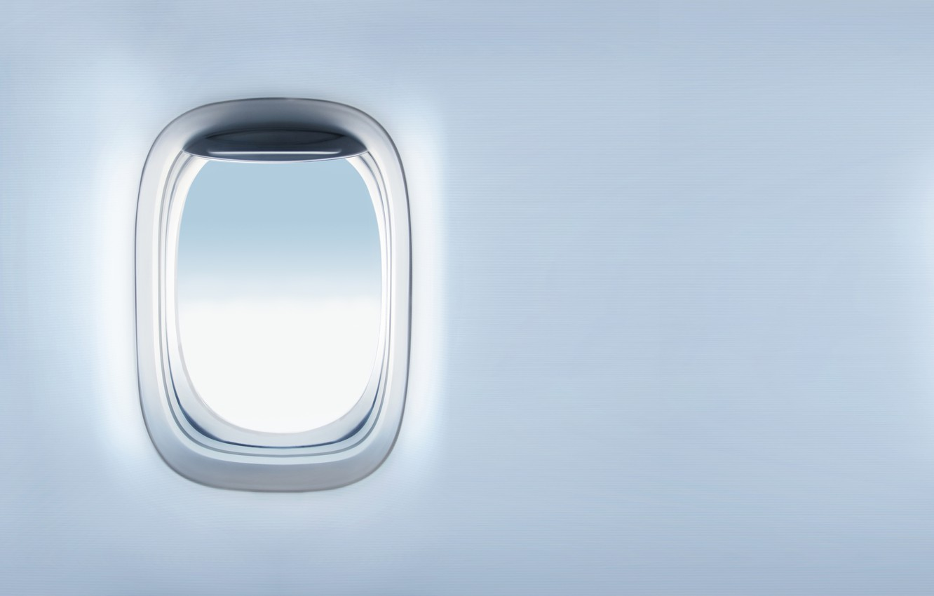 Photo wallpaper the sky, clouds, surface, flight, the plane, texture, the window, sky, flight, clouds, airplane, bokeh, ...
