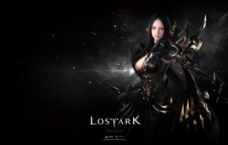 Photo wallpaper girl, background, elf, Lost Ark