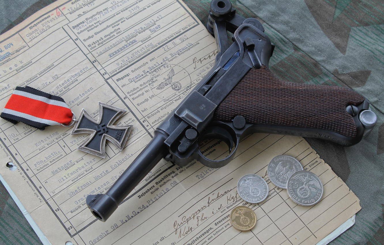 Wallpaper P08 Parabellum Luger Iron Cross Images For
