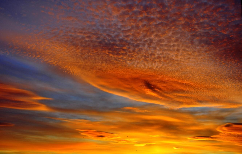 Wallpaper The Sky Clouds Landscape Landscapes Sunset