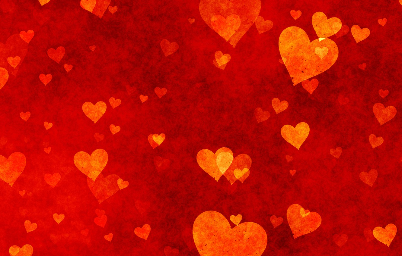 Wallpaper Hearts Red Love Background Romantic Hearts