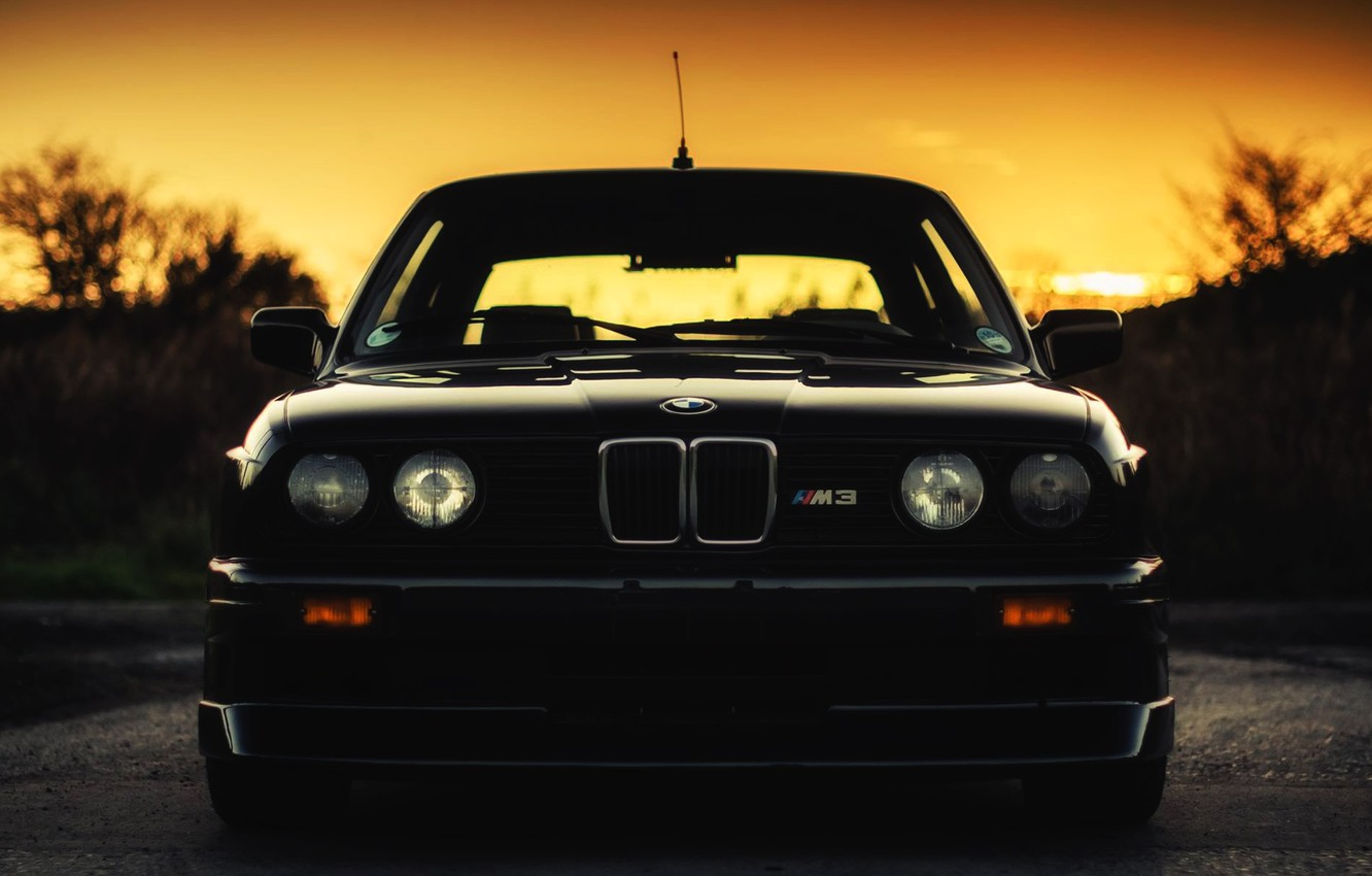 Wallpaper Auto Black Bmw Machine Boomer Logo Bmw Lights E30