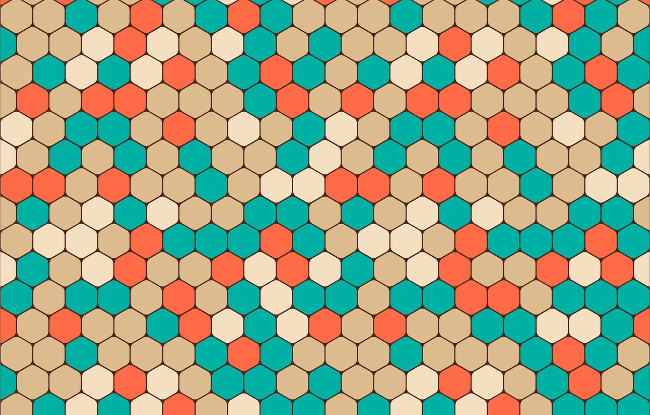 Photo wallpaper colorful, abstract, geometry, background, pattern, hexagon, shapes, geometric, abstrakciya