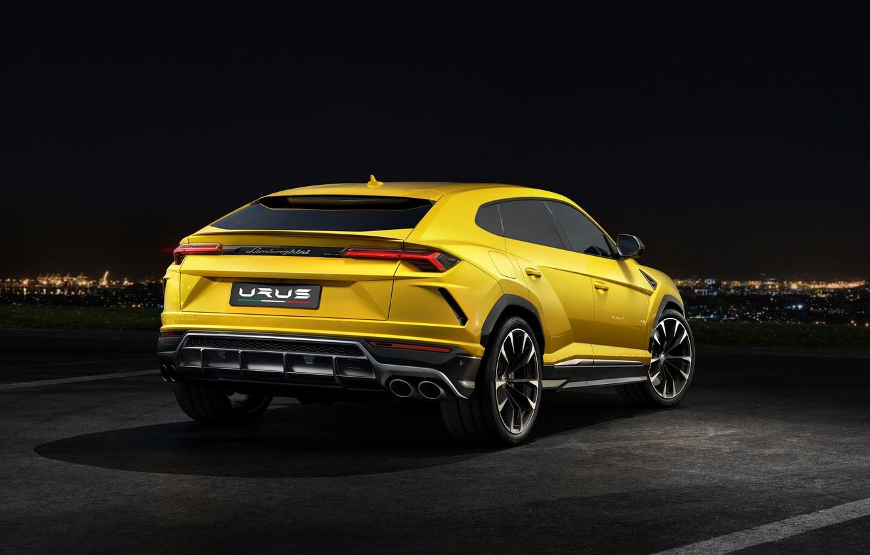 Photo wallpaper Lamborghini, rear view, 2018, Urus