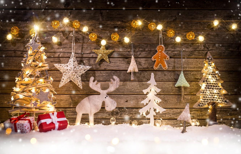Photo wallpaper winter, snow, merry christmas, decoration, xmas