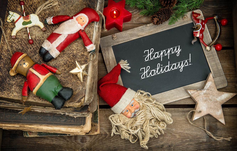 Photo wallpaper decoration, toys, tree, New Year, Christmas, Christmas, vintage, wood, Merry Christmas, Xmas, gift, decoration, holiday …