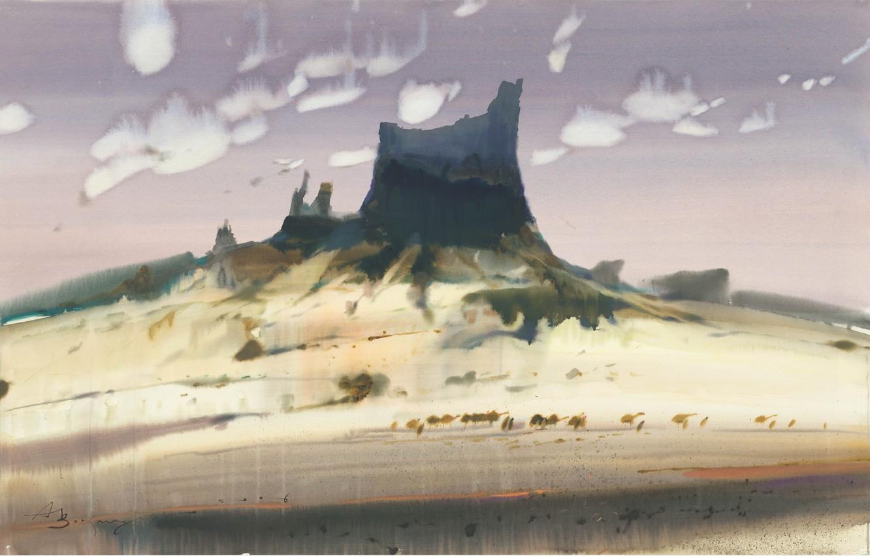 Photo wallpaper desert, Caravan, Arusha Vozmus