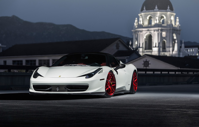 Photo wallpaper Ferrari, 458, Wheels, MRR, Lightweight, FS01