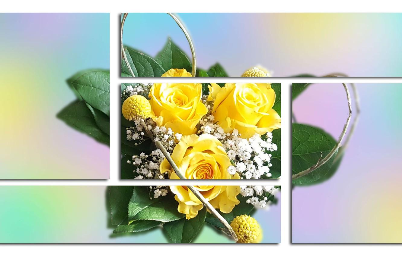 Photo wallpaper Graphics, Flowers, Rozciecia