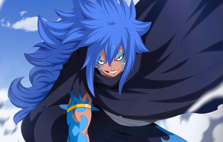Photo wallpaper blue, anime, dragon, evil, manga, Fairy Tail, strong, dragon slayer, mahou, japonese, Acnologia, powerfull, madoshi, …