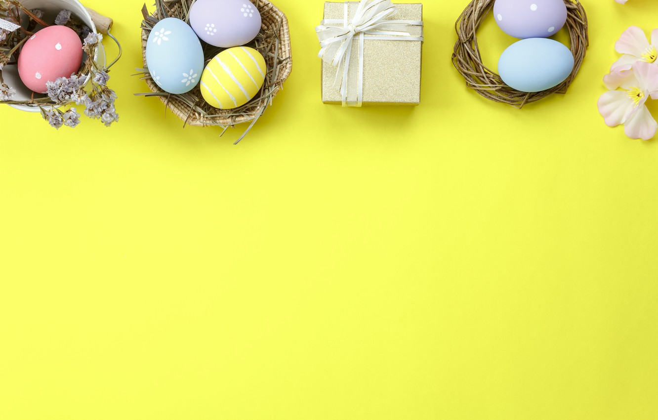 Photo wallpaper eggs, spring, colorful, Easter, spring, Easter, eggs, decoration, Happy, tender