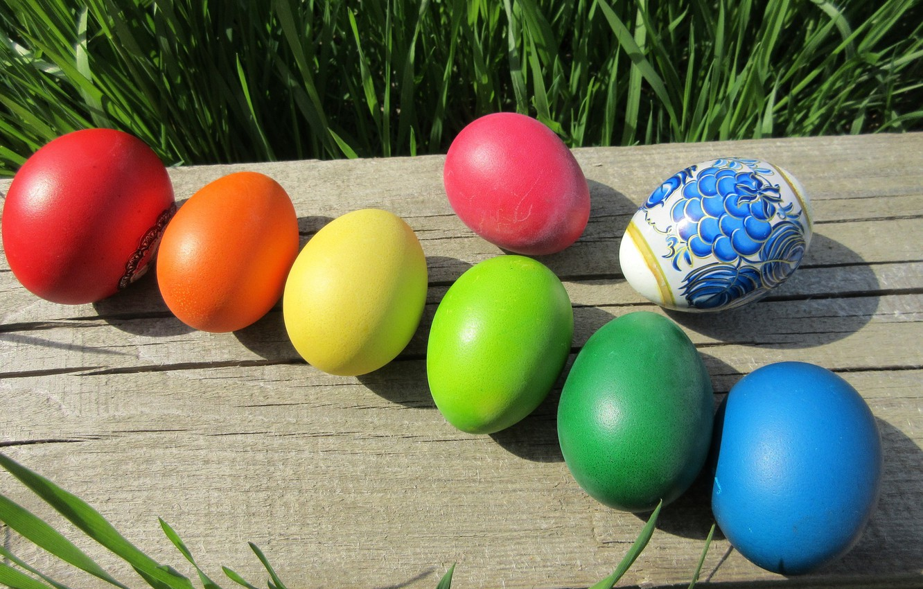 Photo wallpaper eggs, Easter, timber, mamala ©