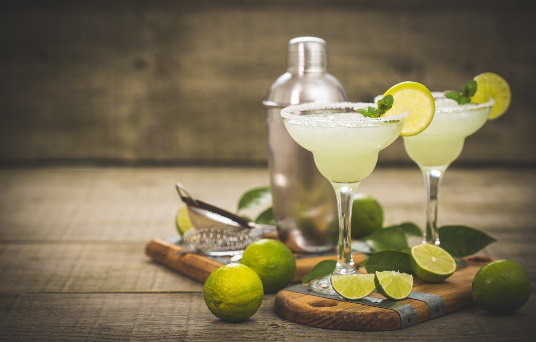 Photo wallpaper glasses, lime, drink, cocktail, lime, Citrus
