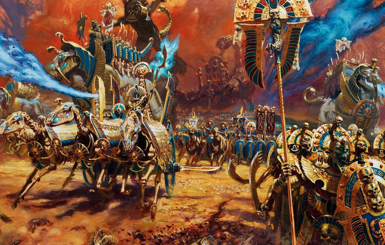 Photo wallpaper Skeleton, Total Warhammer II Was, Tomb Kings