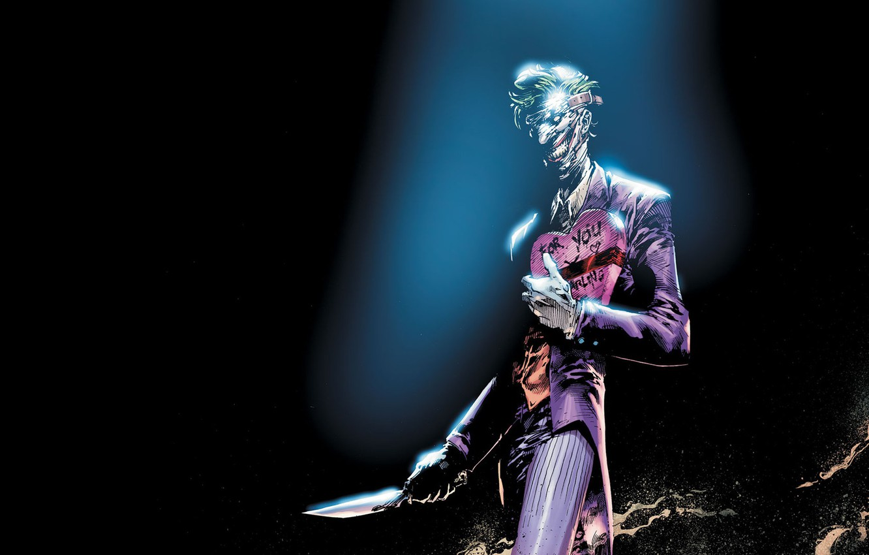 Photo wallpaper Knife, Smile, Face, Joker, Teeth, Costume, Leather, Mask, Comic, Smile, Joker, Villain, Gift, DC Comics, …