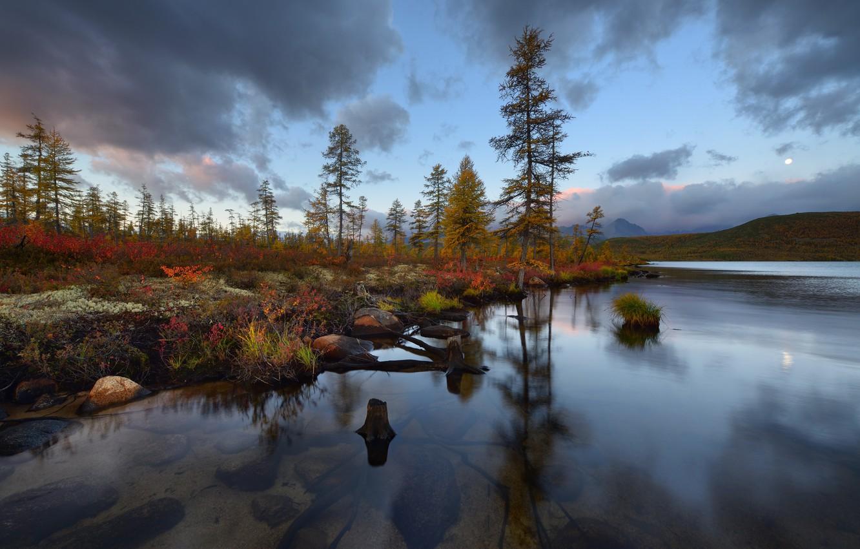 Photo wallpaper autumn, The Lake Of Jack London, Kolyma