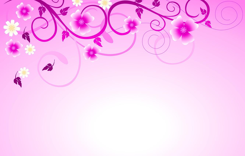 Photo wallpaper background, patterns, flowers