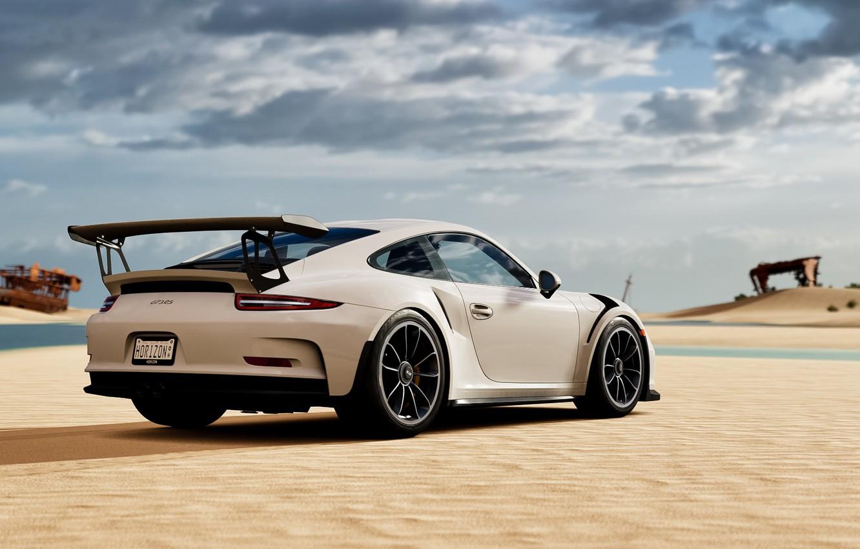 Photo wallpaper sand, white, sports car, Porsche 911 GT3 RS