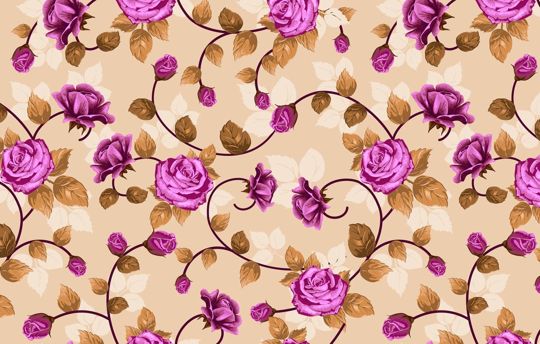 Photo wallpaper flowers, roses, weave