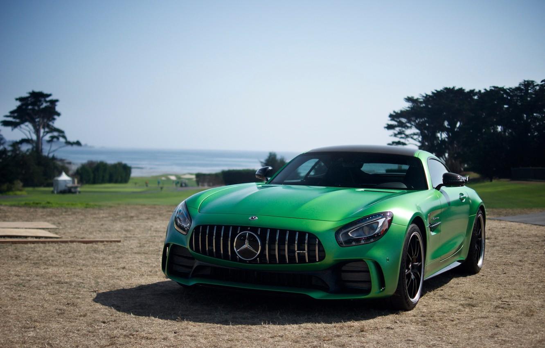 Photo wallpaper Mercedes-Benz, GT-R, Green, AMG