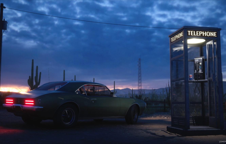 Wallpaper Post Booth Car Desert Gas Station Golden Gasoline Images For Desktop Section Rendering Download