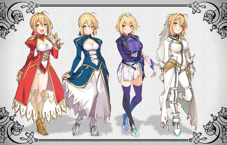 Photo wallpaper kawaii, girl, game, Fate Stay Night, Fate/Stay Night, armor, anime, pretty, manga, japanese, seifuku, light …