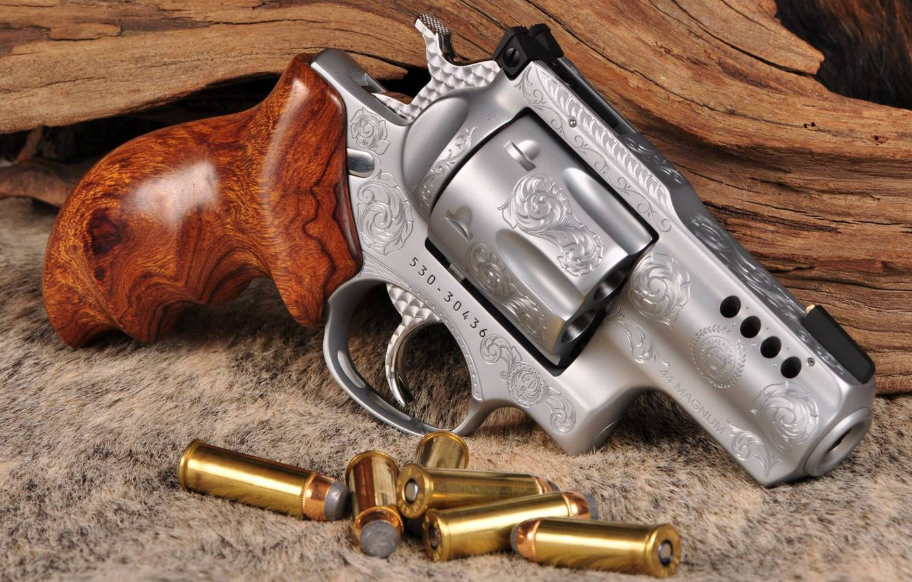 Photo wallpaper weapons, revolver, weapon, engraving, custom, Smith & Wesson, engraving, 357 Magnum, revoler